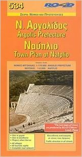 Argolis - Nafplio 1:170.000 9789608189836  Road Editions Ltd.   Landkaarten en wegenkaarten Peloponnesos