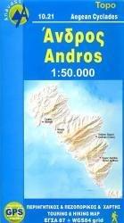 10.21 (10.13)  Andros 1:27.000 9789608195745  Anavasi Island Maps  Landkaarten en wegenkaarten Egeïsche Eilanden