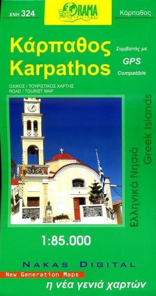 Kaart van Karpathos 1:60.000 9789608385863  Orama Greek Islands  Landkaarten en wegenkaarten Egeïsche Eilanden