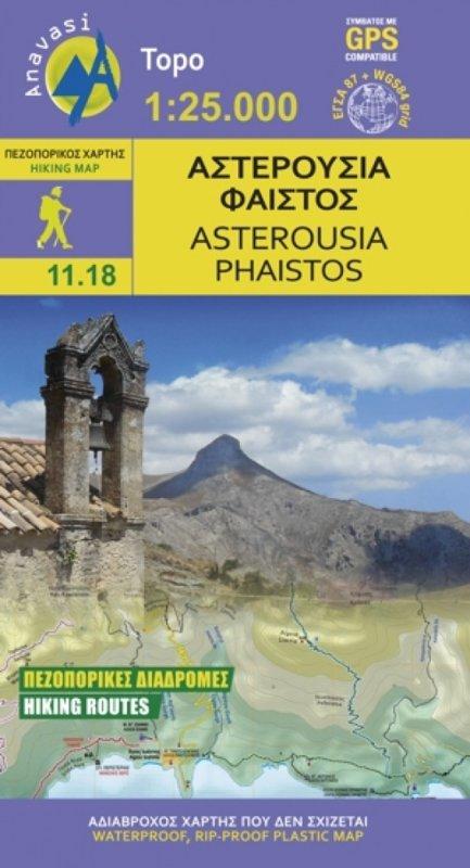 Kreta 11.18 Asterousia-Phaistos 1:25.000 9789609412360  Anavasi   Wandelkaarten Kreta