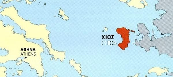 TM-328  Chios 1:60.000 9789609456043  Terrain Maps Northern Aegean Islands  Wandelkaarten Egeïsche Eilanden