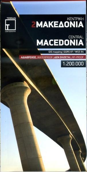 TM-1.2 Macedonië 1:200.000 9789609456258  Terrain Maps Griekenland 1:200.000  Landkaarten en wegenkaarten Midden en Noord-Griekenland, Athene