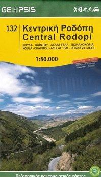 Central Rodopi (nr. 132, Rodopen) | wandelkaart 1:50.000 9789609960236  Geopsis   Wandelkaarten Midden en Noord-Griekenland, Athene