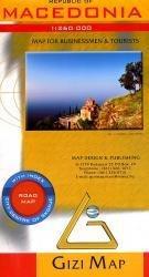 Macedonia 1:250.000 9789630296670  Gizi Map   Landkaarten en wegenkaarten Servië, Bosnië-Hercegovina, Macedonië, Kosovo, Montenegro