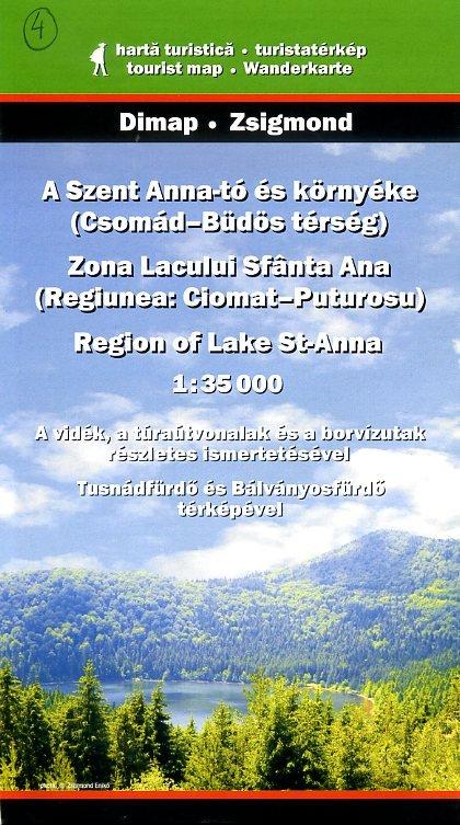 DMP-04  Lake Anna Zona Lacului Sfanta Ana | wandelkaart 9789630486279  Dimap Wandelkaarten Roemenië  Wandelkaarten Roemenië, Moldavië