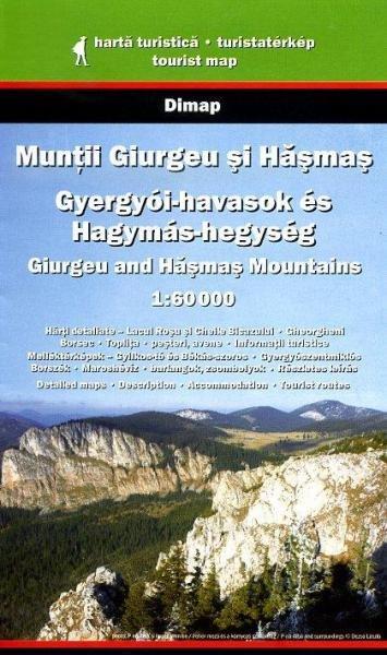 DMP-20  Giurgeu and Hasmas Mountains | wandelkaart 1:60.000 9789638637970  Dimap Wandelkaarten Roemenië  Wandelkaarten Roemenië, Moldavië