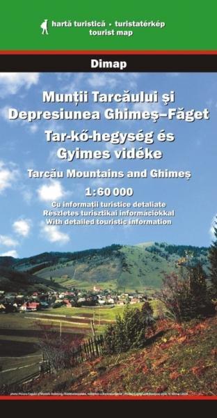DMP-28  Tarcaului Mountains Map   wandelkaart 1:60.000 9789638683465  Dimap Wandelkaarten Roemenië  Wandelkaarten Roemenië, Moldavië