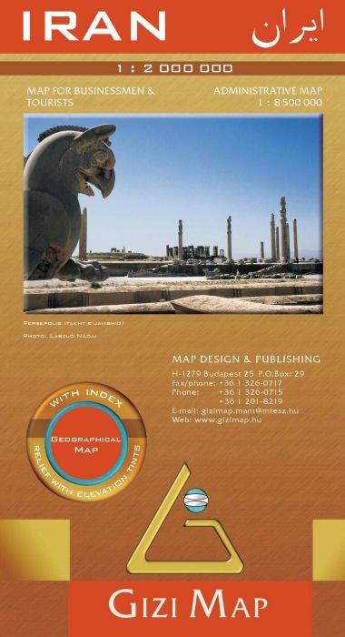 Iran 1:1.850.000 9789638703026  Gizi Map   Landkaarten en wegenkaarten Iran, Afghanistan