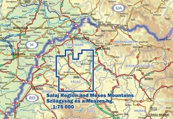 DMP-31  Salajul si Muntii Meses | wandelkaart 1:75.000 9789638845405  Dimap Wandelkaarten Roemenië  Wandelkaarten Roemenië, Moldavië