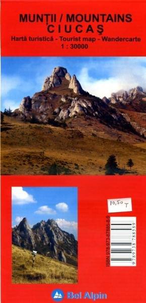 Ciucas (Muntii) Mountains | wandelkaart 1:30.000 9789738788589  Bel Alpin Wandelkaarten Roemenië  Wandelkaarten Roemenië, Moldavië