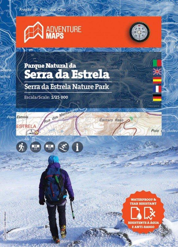 Parque Natural da Serra da Estrela | wandelkaart 1:25.000 9789895405206  Adventure Maps   Wandelkaarten Noord en Midden-Portugal, Lissabon