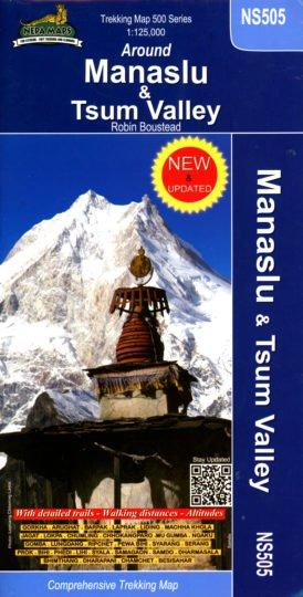 Manaslu Trekking Map 1:125.000 9789937649612  Nepa Maps Wandelkaarten Nepal  Wandelkaarten Nepal