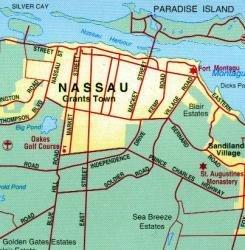 Bahamas | landkaart, autokaart 1:1.100.000 9789941300226  ITM   Landkaarten en wegenkaarten Overig Caribisch gebied