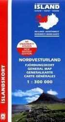 North West Iceland 9789979317609  Mal og Menning Iceland 1:300.000  Landkaarten en wegenkaarten IJsland