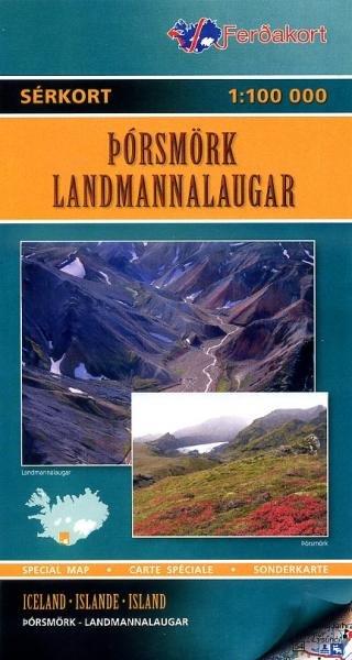 LI-H  Thorsmork/ Landmannalaugar 1:100.000 9789979672999  Landmaelingar Islands Special Maps  Wandelkaarten IJsland