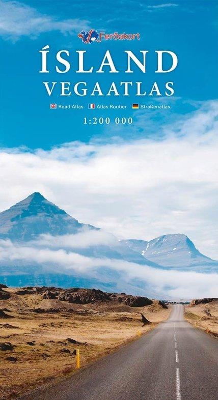Ísland Vega atlas (wegenatlas IJsland) 1/200.000 9789979674191  Ferdakort   Wegenatlassen IJsland