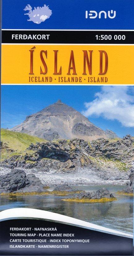 Ferdakort Island  1:500.000 9789979674207  Landmaelingar Islands   Landkaarten en wegenkaarten IJsland