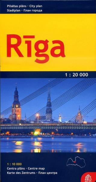 Riga 1:10.000 / 20.000 9789984074344  Jana Seta   Stadsplattegronden Letland