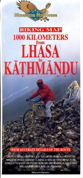 1000 Kms.: Lhasa - Kathmandu / Biking Map 1:400t. 9789993323570  Himalayan MapHouse   Fietskaarten Tibet