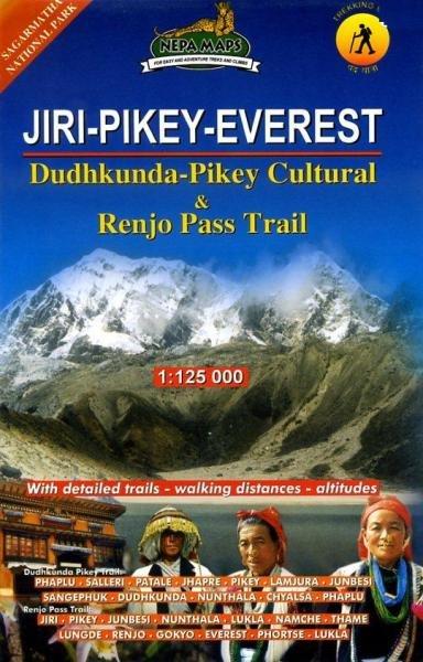 Jiri - Pikey - Everest 1:125.000 9789993347286  Himalayan MapHouse Wandelkaarten Nepal  Wandelkaarten Nepal