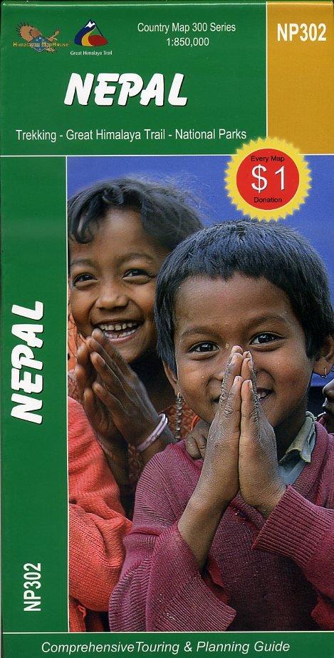Great Himalaya Trail Map of Nepal 9789993347620  Nepa Maps Wandelkaarten Nepal  Landkaarten en wegenkaarten Nepal