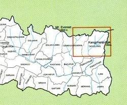 Kangchenjunga, Makalu 1:225.000 9789993360131  Himalayan MapHouse   Landkaarten en wegenkaarten Nepal