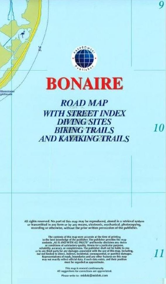 Bonaire 1:40.000 9791095793021  Kaprowski Maps   Landkaarten en wegenkaarten Aruba, Bonaire, Curaçao