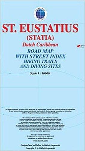 Saint Eustatius (Statia) 1:10.000 9791095793106  Kaprowski Maps   Landkaarten en wegenkaarten Aruba, Bonaire, Curaçao