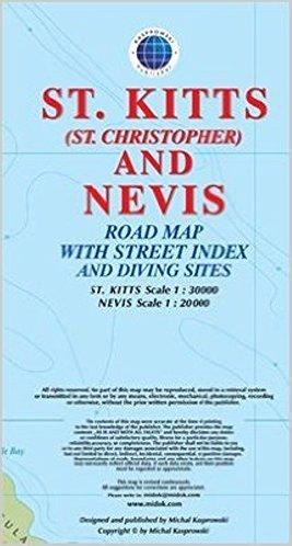 St.Kitts & Nevis 1:30.000 / 20.000 9791095793113  Kaprowski Maps   Landkaarten en wegenkaarten Overig Caribisch gebied