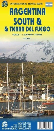 Zuid-Argentinië en Tierra del Fuego   landkaart, autokaart 1:2mln./1:750d 9871553415143  ITM   Landkaarten en wegenkaarten Chili, Argentinië, Patagonië